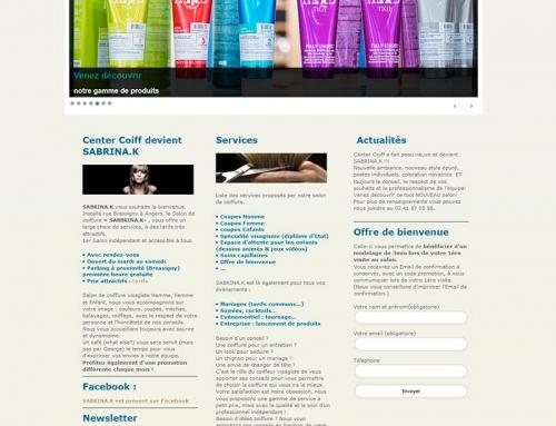 Création site Internet salon de coiffure Sabrina-K à Angers