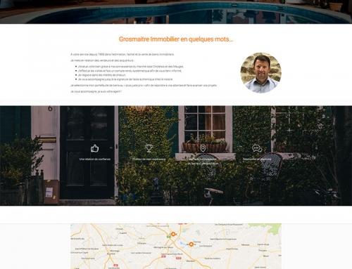 Création d'un site Internet pour un agent immobilier près d'Angers