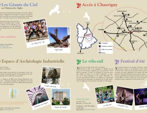 Création d'un dépliant touristique ville de Chauvigny