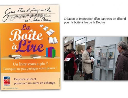 Participation au projet de la «Boîte à lire» dans la Doutre à Angers