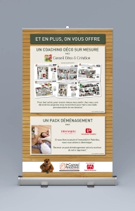 impression roll up stand salon angers