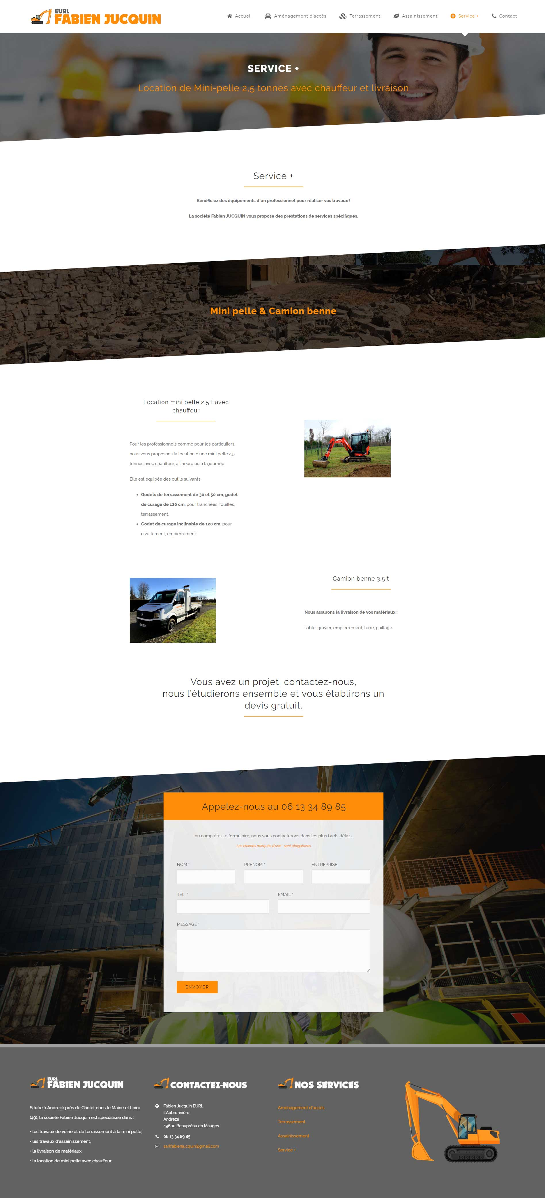 Création site artisan BTP Angers