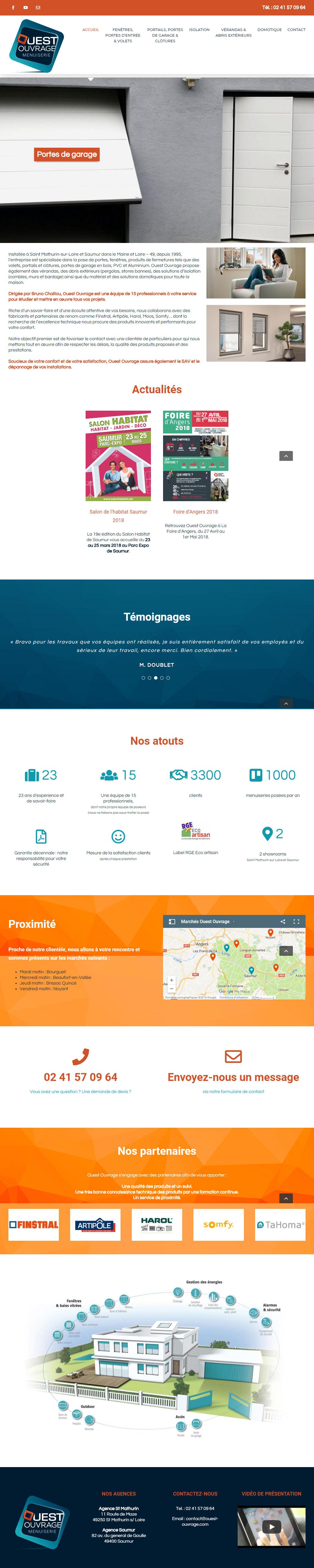 Création d'un site Internet menuisier Angers