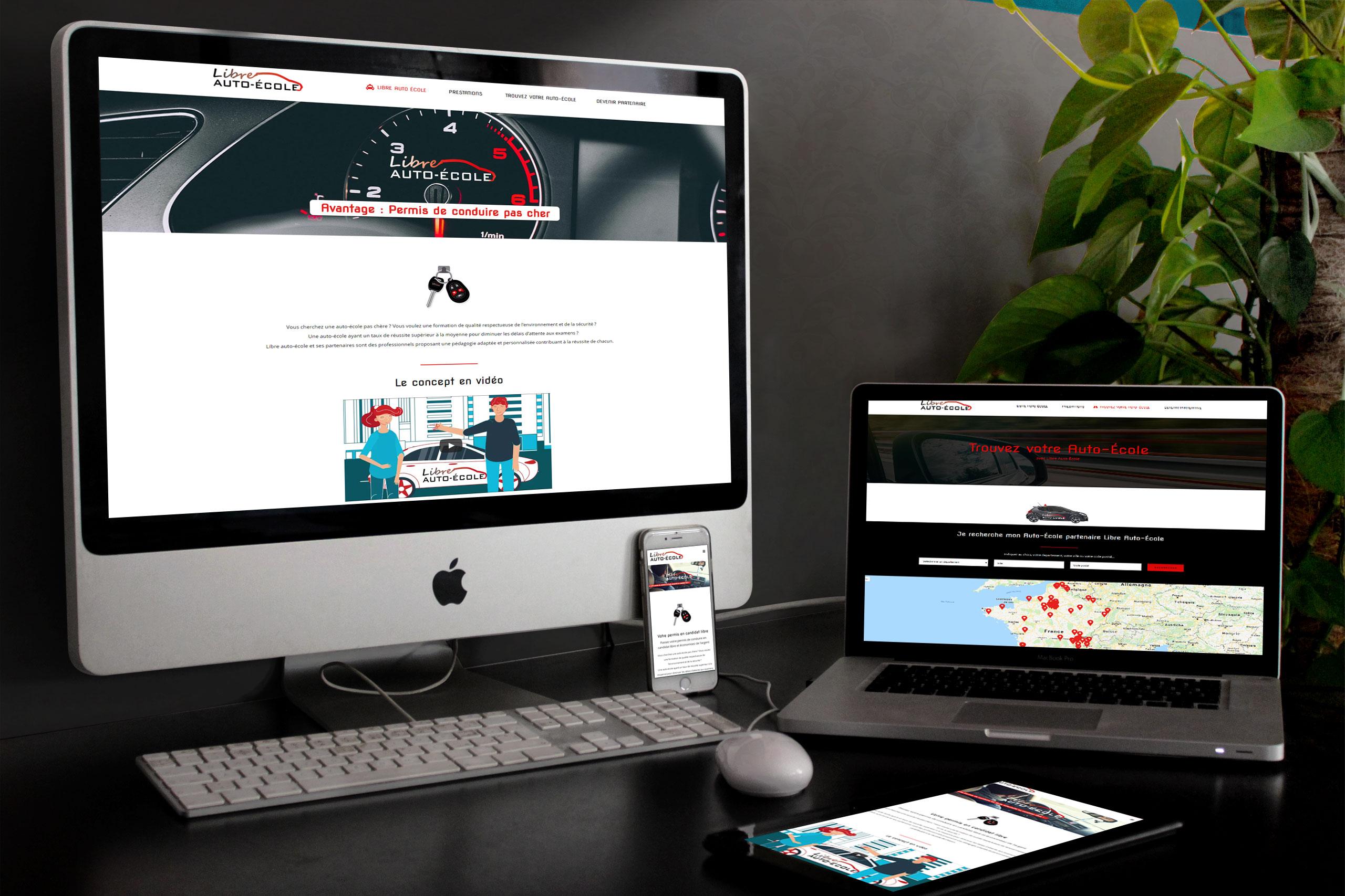 Création site web auto école Angers