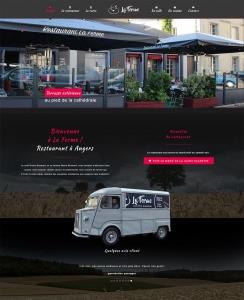 création site internet restaurant angers