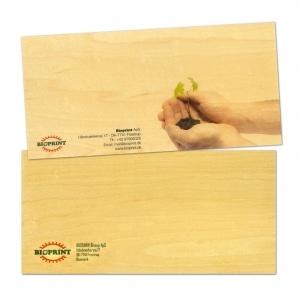 carte correspondance en bois recto verso