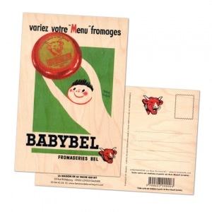 carte postale en bois personnalisée