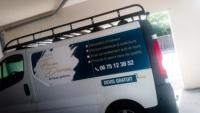 pose adhésifs flocage camion trafic angers
