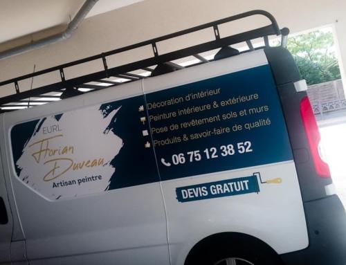 Impression et pose adhésifs sur Renault Trafic – Flocage véhicule Angers