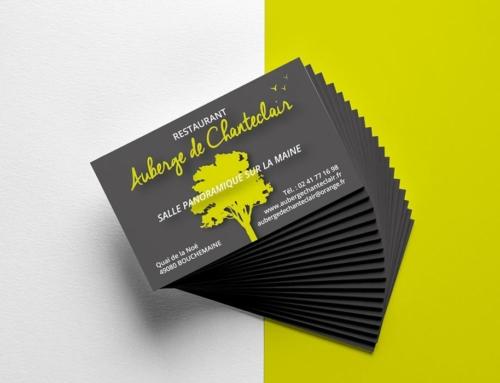 Création et impression de carte de visite restaurant Angers