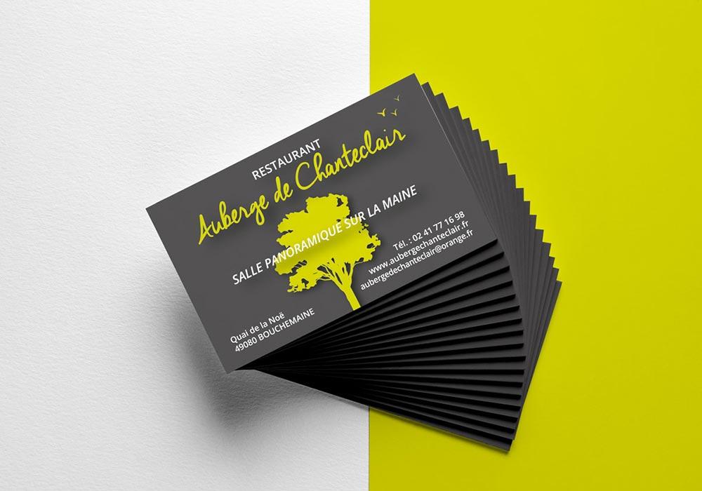Création impression carte visite Angers