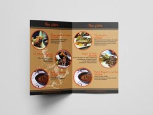 creation prospectus restaurant angers infographie