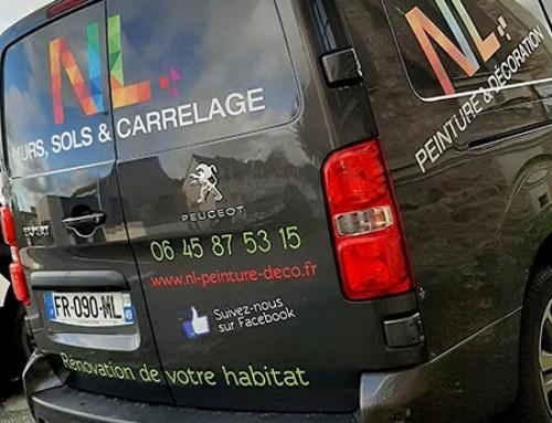 Décoration camion Peugeot Expert NL Peinture Le Lion d'Angers