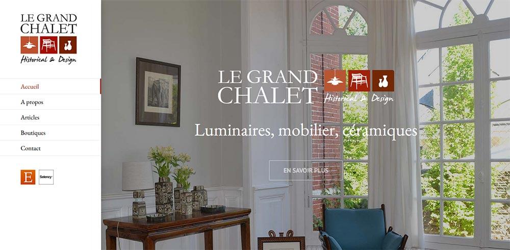 Création site Internet Angers Le Grand Chalet