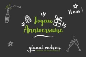 11 ans gianni codron publicite anniversaire entreprise